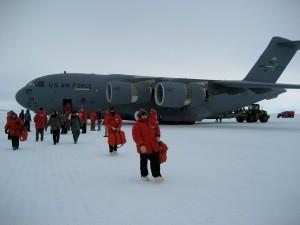 Landing on McMurdo Sound