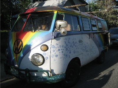 Andy's Rainbow Van.