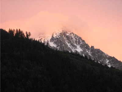 Aiguille du Midi on Fire