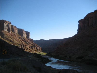 Sun Setting along Moab's River Road