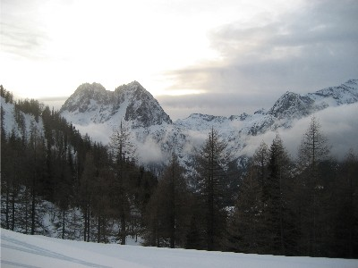 view above vallorcine