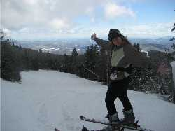 Shawna Macnamara skiing Killington
