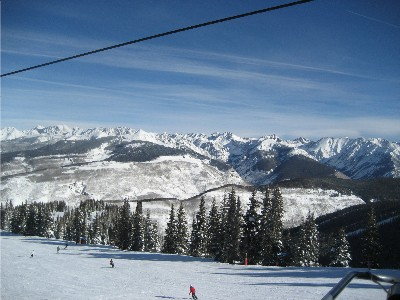 Gore Range from Vail Mountain