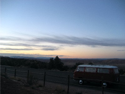 Traci's van at Arches