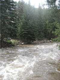 A hazy Gore Creek
