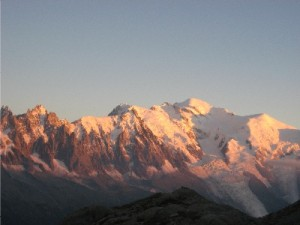 Mont Blanc in the alpenglow