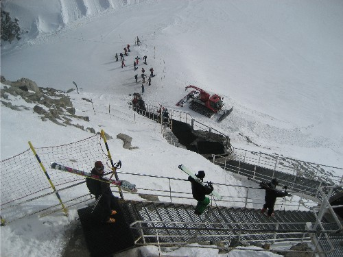 Grand Montets stairs
