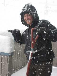 Traci Macnamara snow shoveling