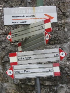 Italian Trail Signs
