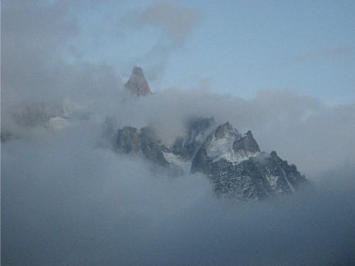 Dent du Geant in Mist
