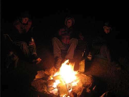 Ham Rock campfire