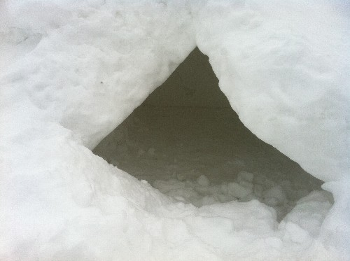 Snow Cave Down And Out