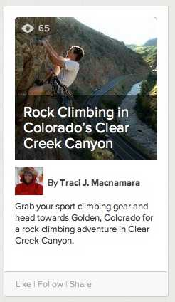 Learnist- Climbing Clear Creek