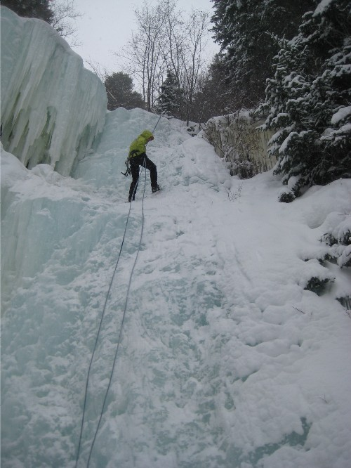 east vail top top ice climbing