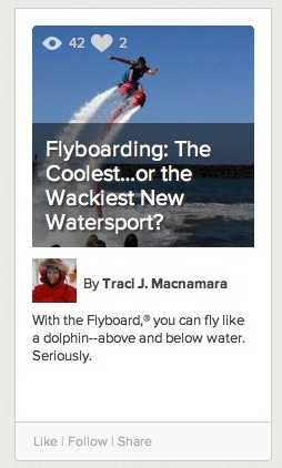 Flyboarding Learnist