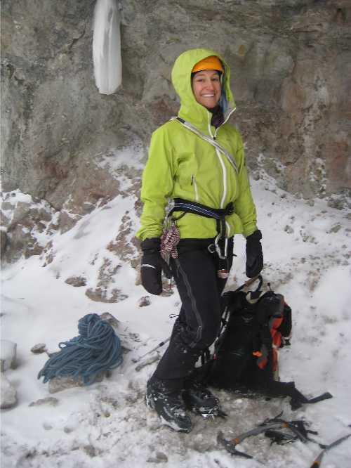 Traci J Macnamara ice climbing