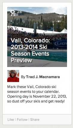 Vail 2013-2014 Season Events Preview
