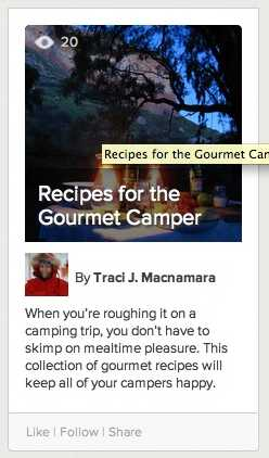recipes for the gourmet camper