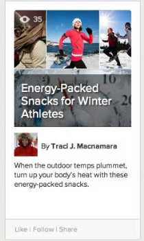 Snacks for Winter Athletes