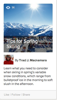 Tips for Spring Skiing